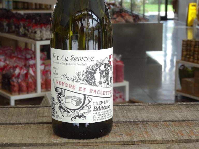 vin etiquette fondue raclette savoie